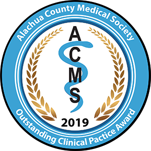 Alachua County Medical Society Outstanding Clinical Practice Award 2019 seal